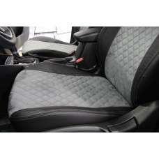 Модельные авточехлы Mitsubishi Outlander 2006-2012 (алькантара ромб)