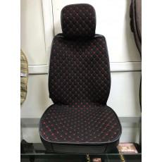 Накидки на сидения с полным закрытием рогожка Китай (с красной отстрочкой)