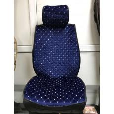 Накидки на сидения с полным закрытием велюр Китай (синий)